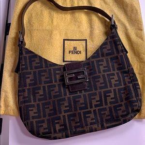 Fendi Brown Zucca Canvas Shoulder Bag
